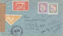 BOLIVIA 195? Zensur Flugpost-Brief Mit 4 Fach Frankierung Gelaufen Von Tarija Nach Wien - Bolivien