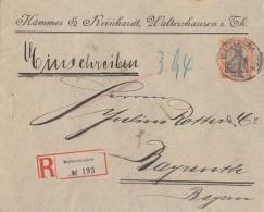 DR R-Brief EF Minr.74 Waltershausen 6.1.04 Gel. Nach Bayreuth - Deutschland