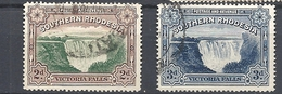 "RHODESIA DEL SUD  1935 -1941 Nos. 30 & 31 Overprinted ""Postage & Revenue""        USED - Southern Rhodesia (...-1964)"