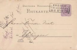 DR Ganzsache R3 Erbach Im Odenwald 15.11.87 - Deutschland