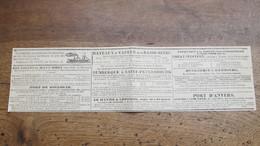 BATEAUX A VAPEURS - LES AIGLES DU HAUT-RHIN-PORT DE BOULOGNE - DUNKERQUE , LE HAVRE , LONDRES , NEW-YORK -1842/43 - World