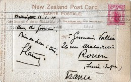 WELLINGTON - FRANKREICH → Postcard Maori Beauty With Stamp 1910 - Entiers Postaux