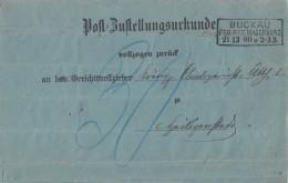 DR Postzustellungsurkunde R3 Buckau Reg.Bez. Magdeburg 21.12.80 Gel. Nach R3 Heiligenstadt - Deutschland