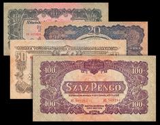 # # # 4 Banknoten Ungarn (Hungary) 10, 20, 50 Und 100 Forint 1944 # # # - Hungary