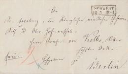 Preussen Brief R2 Schwedt 16.5. Gel. Nach Berlin - Preussen