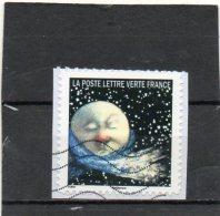 FRANCE    Lettre Verte      2016   2 Eme Timbre Du Carnet Correspondances Planétaires    Adhésif   Sur Fragment Oblitéré - Adhesive Stamps