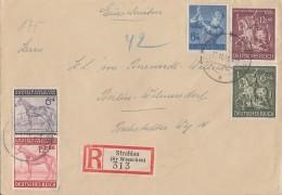 DR R-Brief Mif Minr.852,857,858,860,861 Strahlau 11.11.43 - Deutschland