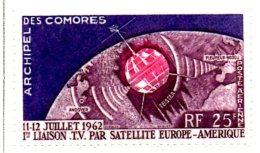 MISS118 - COMORES 1962 , Satellite Tv ***  MNH Spazio / Geofisico