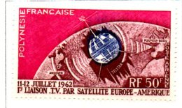 MISS121 - POLINESIA 1962 , Satellite Tv ***  MNH Spazio / Geofisico - Nuovi