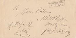 Preussen Brief R2 Schmallenberg 11.7. Gel. Nach Fredeburg - Preussen