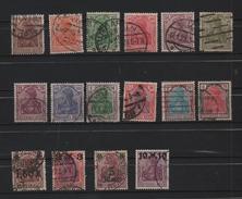 ALLEMAGNE 1920 - 22 - Deutsches Reich. Oblitérés. 16 Valeurs. - Oblitérés