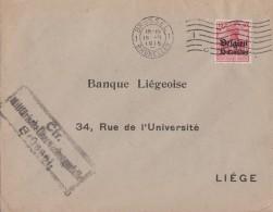 Dt. Post In Belgien Brief EF Minr.3 Brüssel 18.2.15 Zensur - Besetzungen 1914-18