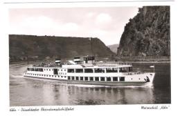 """Köln Düsseldorfer Rheindampfschiffahrt - Motorschiff """" Köln """" - Schiff - Dampfer - Ship - Paquebots"""