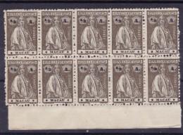MACAU - 1913- AFINSA Nº 210   *** MNH - Papel Cartolina? B10 - Dentado Irregular Lateral Direito - Macao