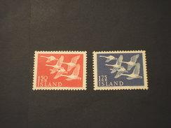 SVEZIA - 1956 PAESI DEL NORD/UCCELLI  2 VALORI - NUOVI(++)