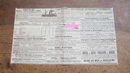SERVICE Des BATEAUX A VAPEURS - LES AIGLES DU HAUT-RHIN- BOULOGNE - DUNKERQUE , LE HAVRE , LONDRES , NEW-YORK -1839/40. - World