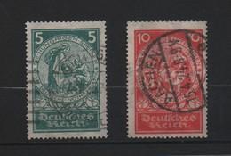 ALLEMAGNE 1924 - Deutsches Reich.N° 344-345 Oblitérés. 2 Valeurs. - Allemagne