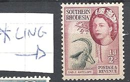 RHODESIA DEL SUD 1953 Queen Elizabeth II    * - Southern Rhodesia (...-1964)