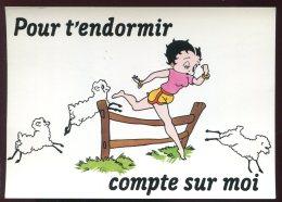 CPM Neuve BETTY BOOP Pour T'endormir Compte Sur Moi - Comicfiguren