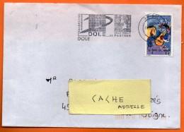 39 DOLE  PASTEUR     11 / 2 / 1993  Lettre Entière N° CC 418 - Marcofilia (sobres)