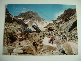 CARRARA   CAVA DI MARMO RETRO TIMBRO RIFUGIO  BELVEDERE  TOSCANA  VIAGGIATA COME DA FOTO - Carrara