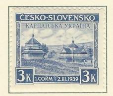 Carpazi/Karpaten - 1939 - Nuovo/new MH - Vedute - Mi N. 1 - Ucraina Sud-Carpatica