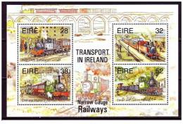 Eire - 1995 - Nuovo/new MNH - Treni - Mi Bl N. 15 - 1949-... Repubblica D'Irlanda