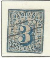 Hamburg - 1859 - Usato/used - Cifre - Mi N. 4 - Hamburg (Amburgo)