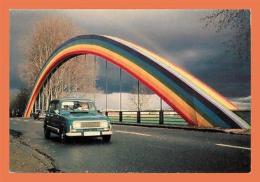 A518 / 181  72 - Pont Peint Couleurs Arc En Ciel à ALLONNES ( Voiture ) - France