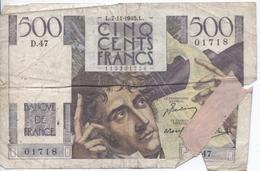 Billet De 500 Francs Châteaubriand - 1871-1952 Gedurende De XXste In Omloop