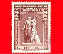 PERU - Usato - 1943 - Monumento - Pro Disoccupati - Unemployed - Columbian Bank Note - 2 - Peru