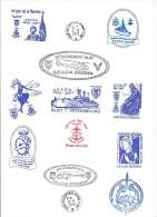 15415 - PORTE-HÉLICOPTÈRES JEANNE D'ARC - CARTE CAMPAGNE 2003 - 2004 (Sans Le Parcours )(Voir Description) (A4) - Marcophilie (Lettres)