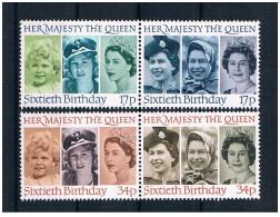 Regno Unito - 1986 - Nuovo/new MNH - Regina Elisabetta II - Mi N. 1064/67 - Neufs
