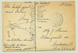 Nederlands Indië - 1947 - Veldpost Batavia Op Kaart John Kappee Naar Amsterdam / Nederland - Netherlands Indies