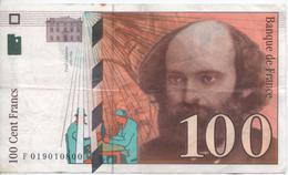 Billet De 100 Francs Cézanne - 1992-2000 Dernière Gamme