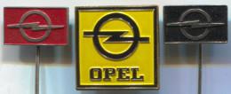 OPEL - Car, Auto, Automotive, Vintage Pin, Badge, Abzeichen, 3 Pieces - Opel