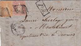 Lettre Suisse Chaux De Fonds 15&20RP Streubel Switzerland - 1854-1862 Helvetia (Non-dentelés)