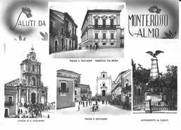 SALUTI DA MONTEROSSO ALMO  - VEDUTINE- F/G - V: 1965 - Italia