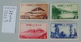 Japon 227 à 230 Neuf Trace De Charnière * MH * Scan Recto Verso
