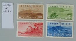 Japon 283 à 286 Neuf Trace De Charnière * MH * Scan Recto Verso