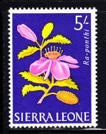 Sierra Leone MH Scott #237 5sh Ra-ponthi - Flowers 1963 - Sierra Leone (1961-...)