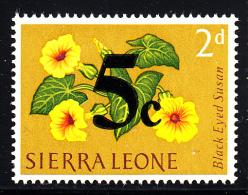 Sierra Leone MH Scott #283 5c On 2p Black-eyed Susan 1965 - Sierra Leone (1961-...)