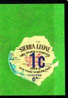 Sierra Leone MH SG #351 1c On 6p New York World's Fair - 1965 Additional Surcharges - Sierra Leone (1961-...)