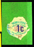 Sierra Leone MH SG #352 1c On 2sh New York World's Fair - 1965 Additional Surcharges - Sierra Leone (1961-...)