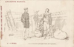 "Ancienne Marine - N° 4 - A Bord - Illust. SAHIB - PUB Chaussures ""Incroyable"" - Humor"