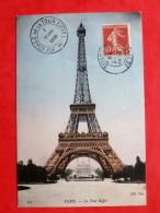 Cpa 75 PARIS 7e   La Tour Eiffel            Tampon - Eiffelturm