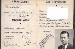 Federation Nationaledes Sports Aeriens Aero-club Carte D'indentite1946 - Unclassified