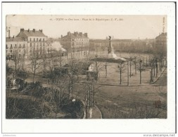 21 DIJON VU D EN HAUT PLACE DE LA REPUBLIQUE BON ETAT - Dijon