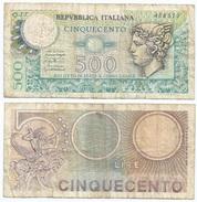 Italia - Italy 500 Lire 1976 Pick 95 Ref 1129 - 500 Lire