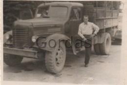 Romania - Brasov - Old Time Truck - Photo 85x60mm - Automobiles